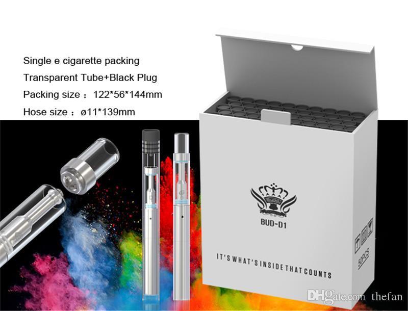 Bolígrafos desechables Vape Bud D1 Bobinas de cerámica cartuchos vape 0.5ml vaporizador vacío 310 mah e cig Batería Vape Starter Kits