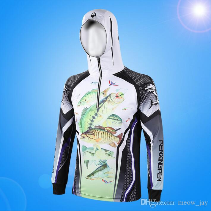 f8c86f86 Outdoor Fishing Sun-protective Clothing UV Long Sleeve Hooded Clothes Male  Quick-drying Breathable Fishing Shirt uv protection clothing
