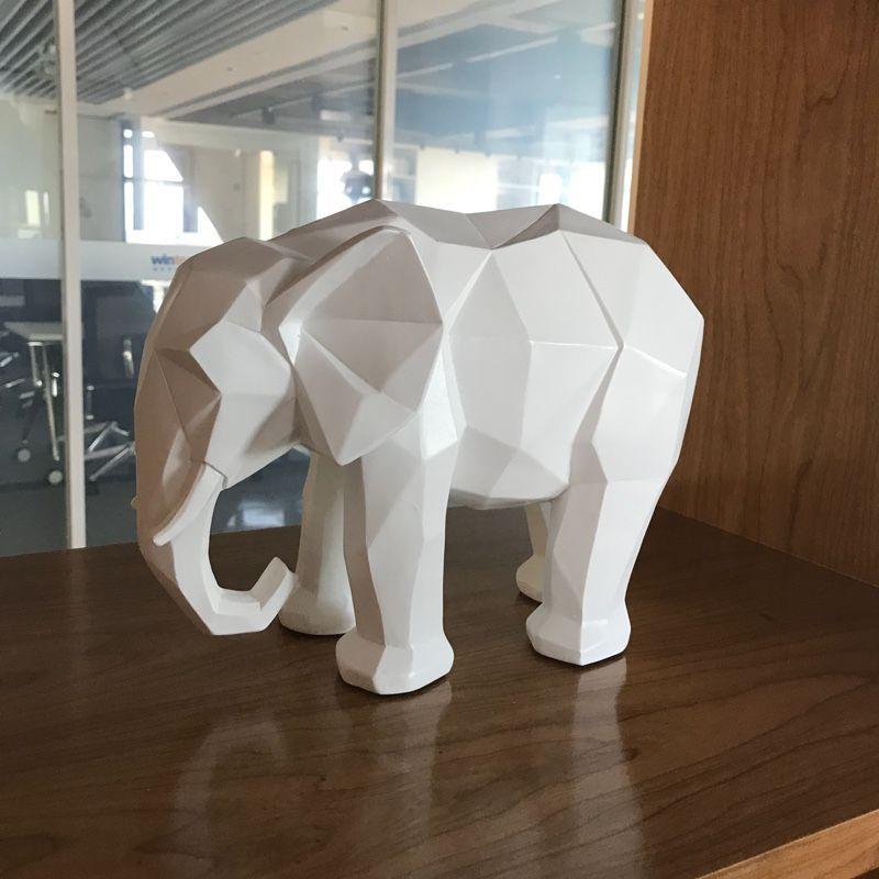 실내 훈장을 위한 유럽 현대 거실 EPMC 환경 친화적인 수지 코끼리 가정은 부속품 동물성 기술 북유럽 작풍을 꾸밉니다