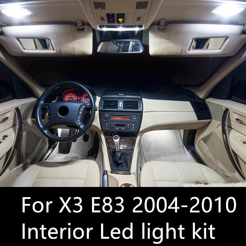 BMW X3 E83 aksesuar 2003-2010 LED İç Aydınlatma Kiti için Shinman 13pcs Hata Serbest LED İç Işık Kiti Paketi