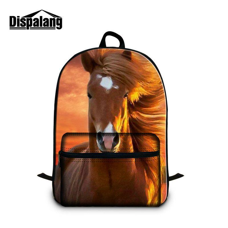 Large Capacity School Backpacks For High School Girls College Boys Women Bookbag Shoulder Laptop Bag Travel Rucksack Daypacks Horse Print