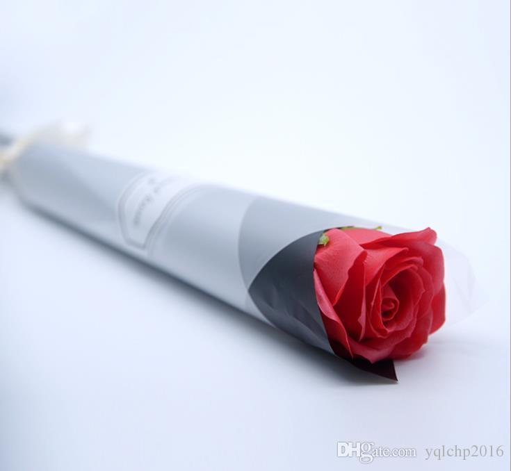 عيد الحب الإبداعية هدية واحدة صغيرة باقة الصابون ارتفع باقة هدية مربع هدية عيد ميلاد الصابون زهرة بالجملة