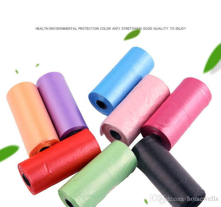 25*30cm Dog Waste Bags Degradable Pet Poop Bags Dog Cat Waste Pickup Clean Bag Plastic Pick Up Bag 15 or 20 Rolls DHL