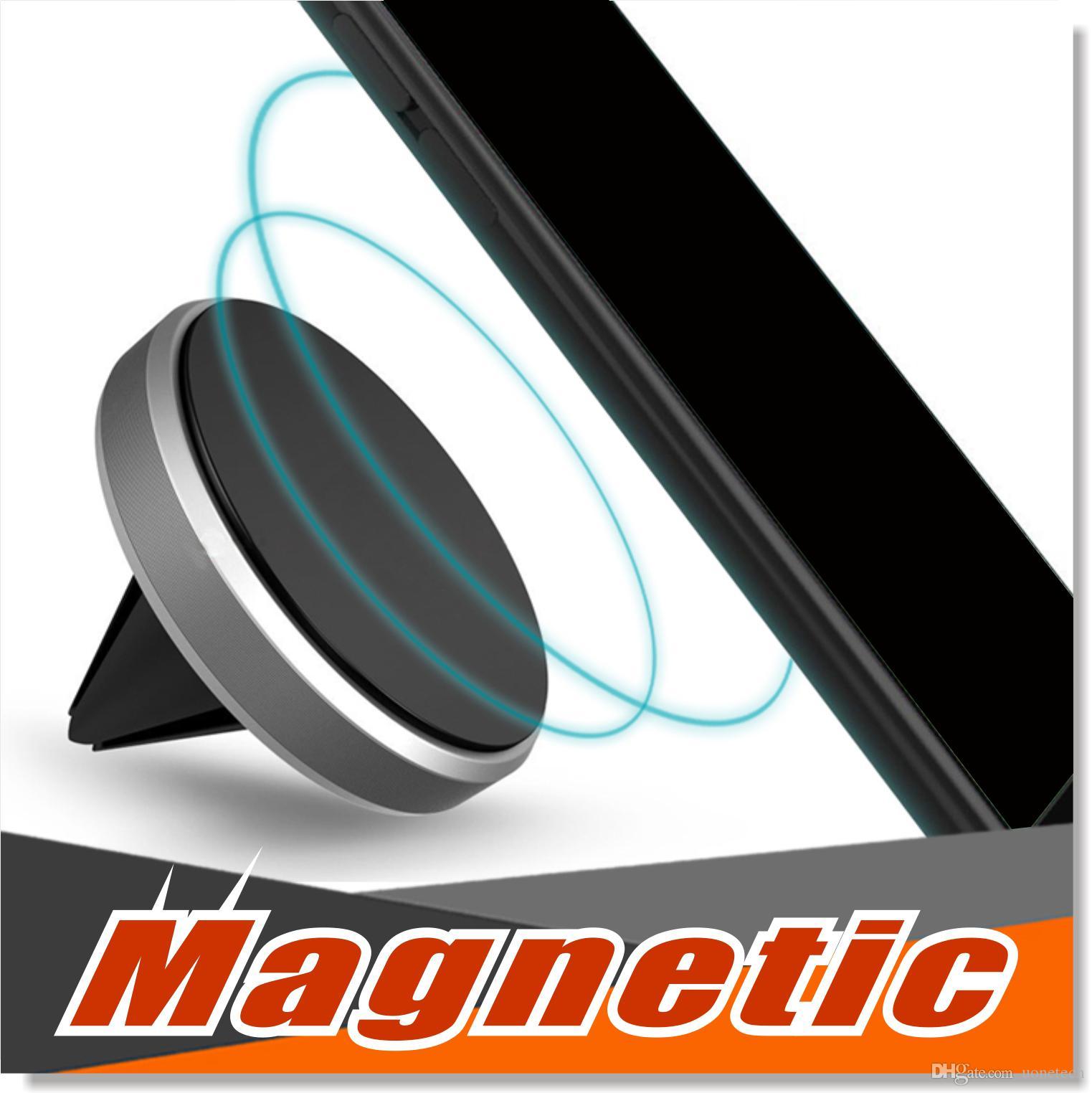 Car Mount Air Vent Magnetische Universal-Auto-Halterung Handy-Halter für iPhone 7 Plus One Step Montage Verstärkter Magnet Einfachere Fahren sicherer