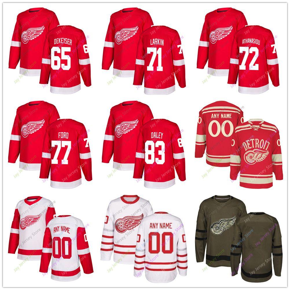 wholesale dealer 810c1 14fbd 2018 Danny Dekeyser Dylan Larkin Andreas Athanasiou Evgeny Svechnikov  Trevor Daley Jersey 2019 Men Women Youth Kid Winter Classic Detroit Red Win  From ...
