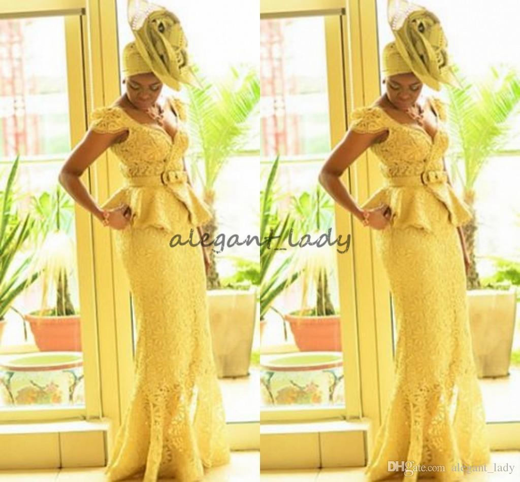 Moda Ankara kitenge Afrika kadınlar Gelinlik mermaid Afrika baskılar Örgüler Nijeryalı Abiye giyim Ganalı peplum dantel Balo Elbise