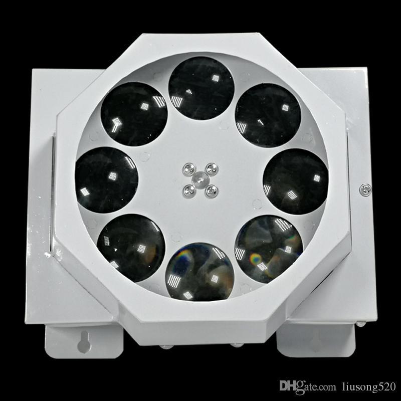 A luz do teste padrão de 8 olhos conduziu luzes do teste padrão do partido KTV do dmx rgbw das luzes do gobo