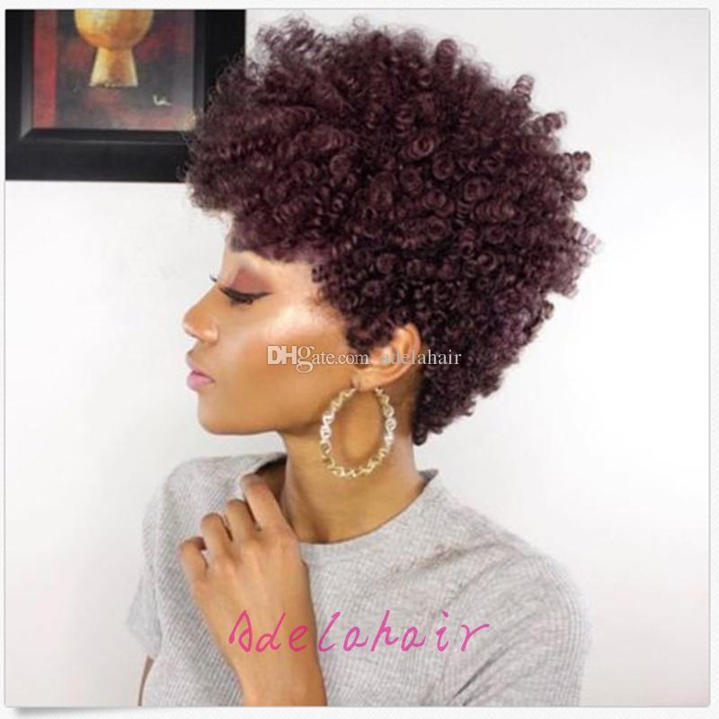 Rihanna Short Afro Kinky Curly Human Hair