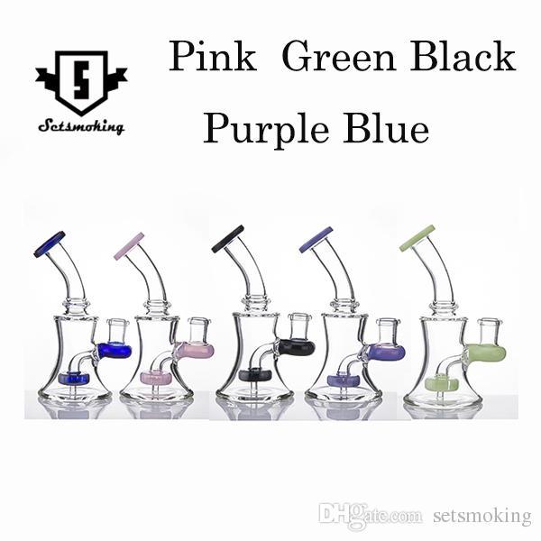 14 mm hembra Cristal banger percha clavo bongs de vidrio aparejos aparejos aparejo de ducha cabezal de ducha burbujeador tuberías de agua Cinco colores para elegir con alta calidad