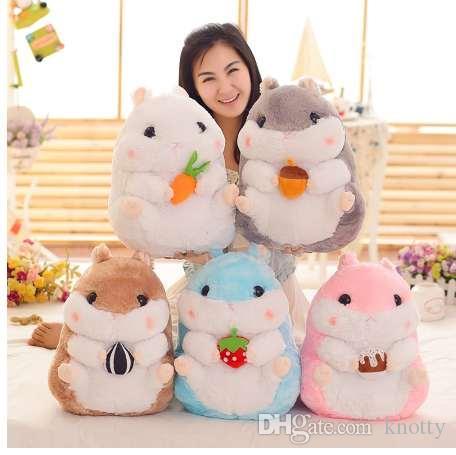 Куклы плюша хомяка 1pcs 38cm симпатичные, хомяк моделирования игрушек плюша, игрушки плюша морских свинок большие, подарок праздника детей / девушок!