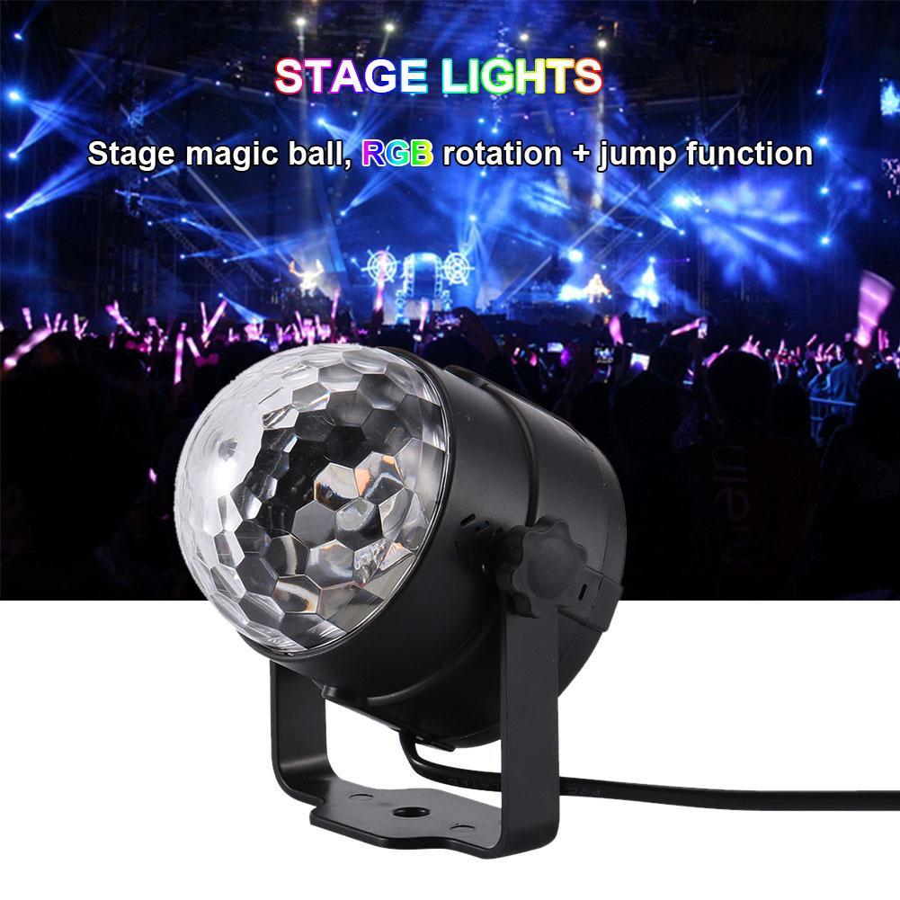 3W Mini RGB cristal Magic Ball son actif Disco Ball scène Lampe Laser Lumière de Noël Projecteur laser Dj Club de Light Party Voir