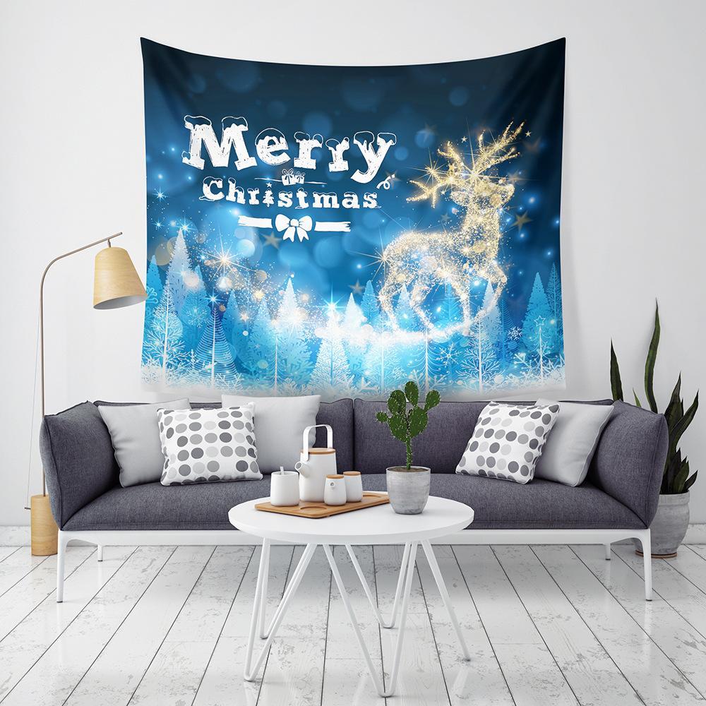 Nueva Llegada 9 Estilos de Navidad Decoración Para El Hogar Tapices Toalla de Playa Manta Camping Sábana mantel Con Luz LED de Alta definición printin