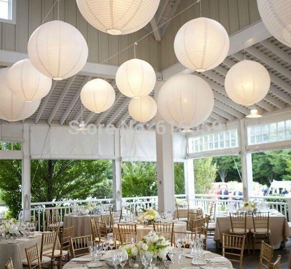 """White paper lanterns 10pcs/lot 8"""" (20cm) 12''(30cm) 16"""" (40cm) Chinese Round Paper Lanterns lamps Party Festival Decoration"""