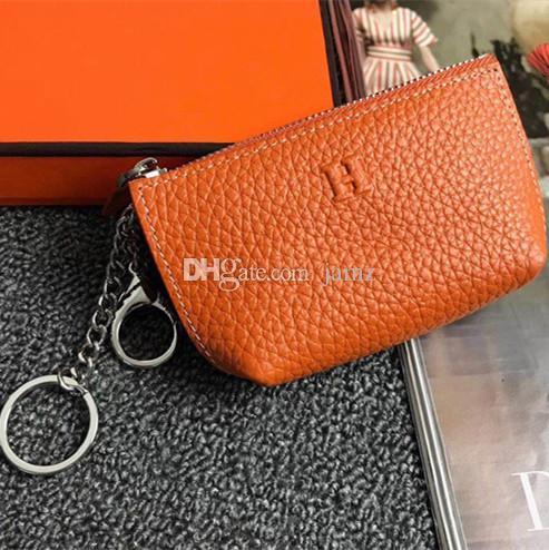 Unisex İnce Fermuar Para Cüzdan Deri Moda Tasarımı Erkekler Kadınlar Harf Anahtarlık Tutucu Bayanlar çanta Kutusu ile Aksesuarlar Sikke Çantalar