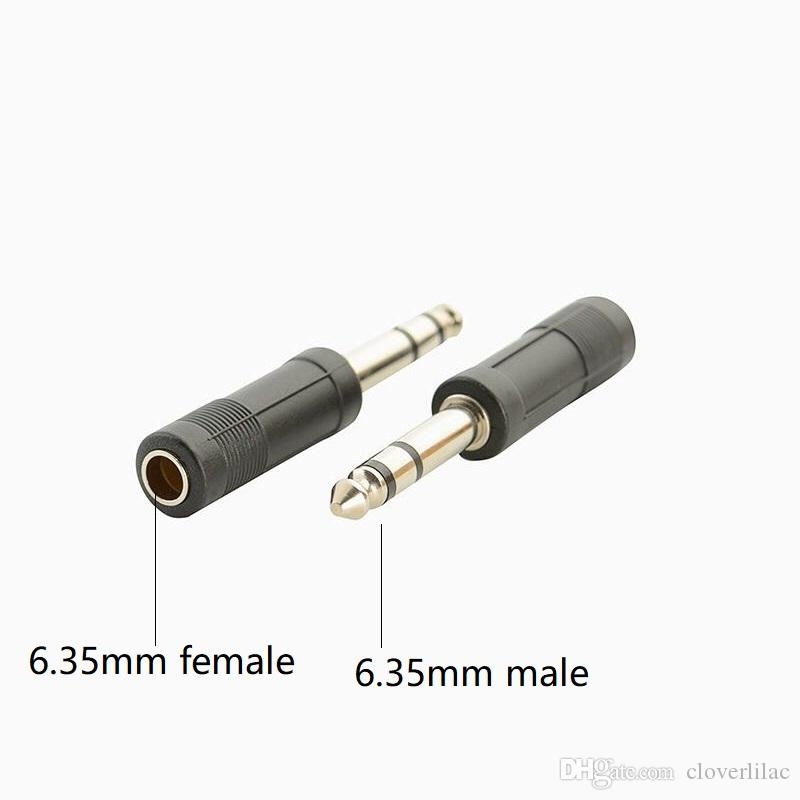 10pcs/lot 10pcs/lot Dual Channel 6.35mm Male to 6.35mm Female Audio Adapter Converter For Headphone Microphone