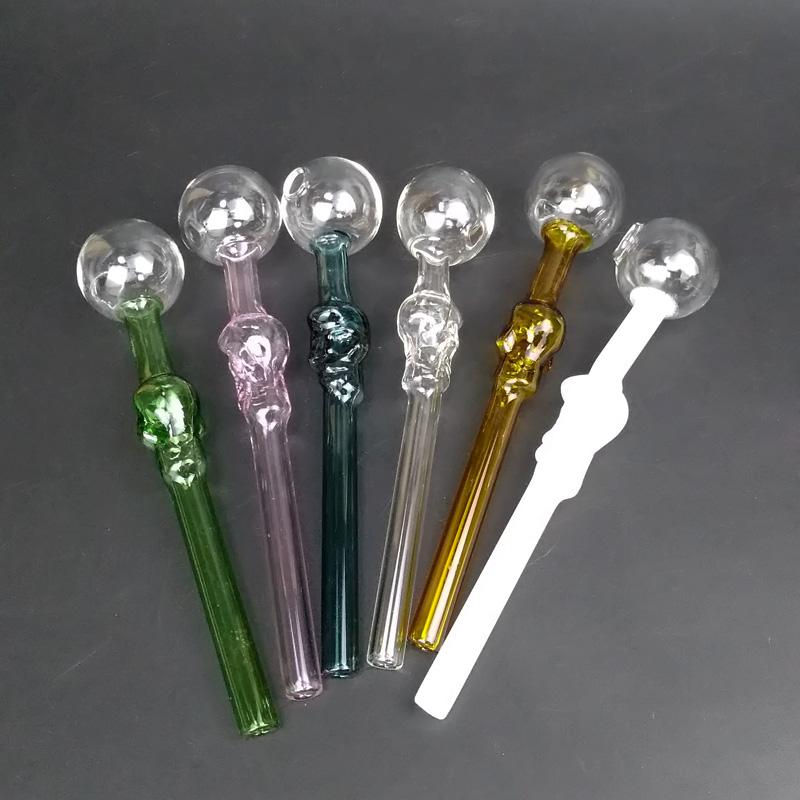 اللون بيركس النفط الشعلة أنابيب الزجاج التدخين مواسير البسيطة التعامل مع التدخين مواسير عالية الجودة النفط الشعلة شحن مجاني منشفة
