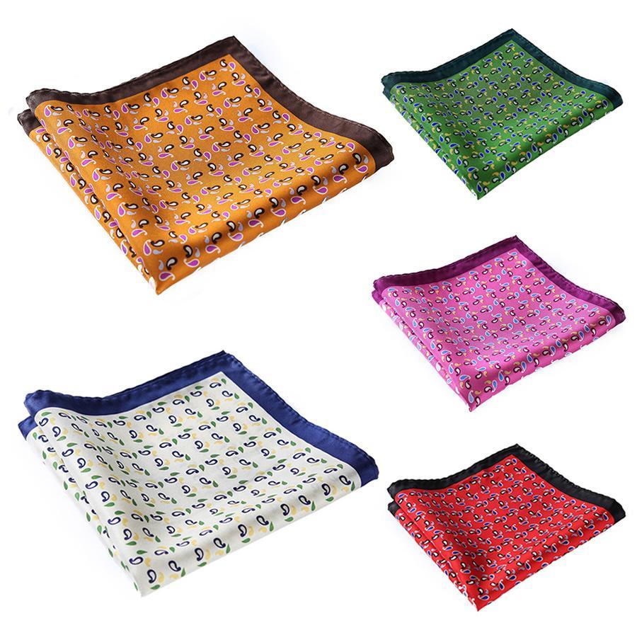 Novo lenço 100% Natural casamento casamento festa de seda bolso moda hanky luxo # n22 homens cetim quadrado clássico OGEIB