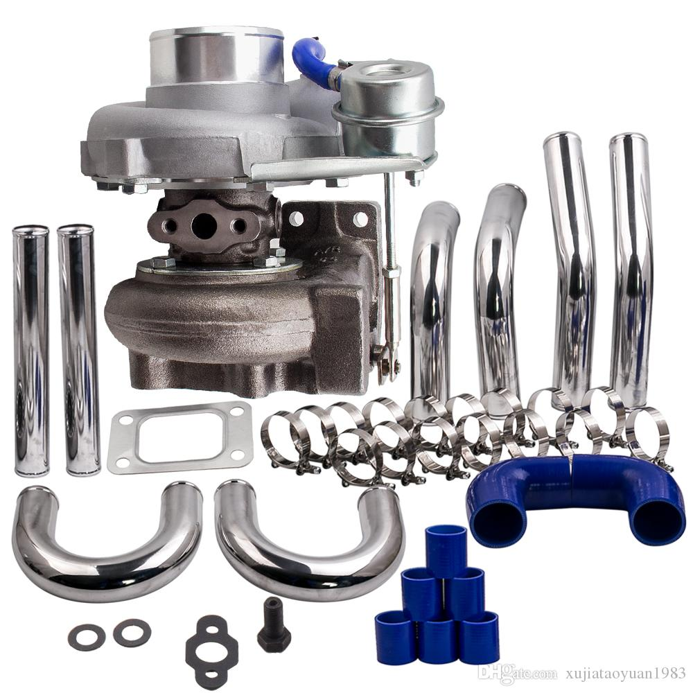 T25 T28 GT2871 Turbo Turbocharger + 2.5 inch 64mm Intercooler Piping pipe Kits
