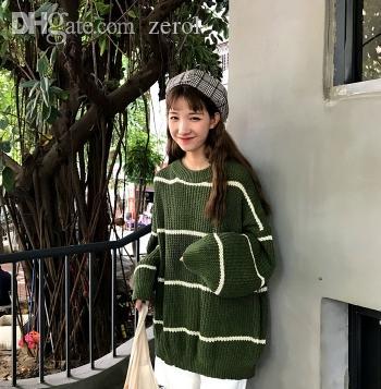 2018 Winter Перемычка Женщины Свитера и пуловеры Вязаные Полосатый с длинным рукавом кашемировый свитер женщина зима Топ Прицепные Femme