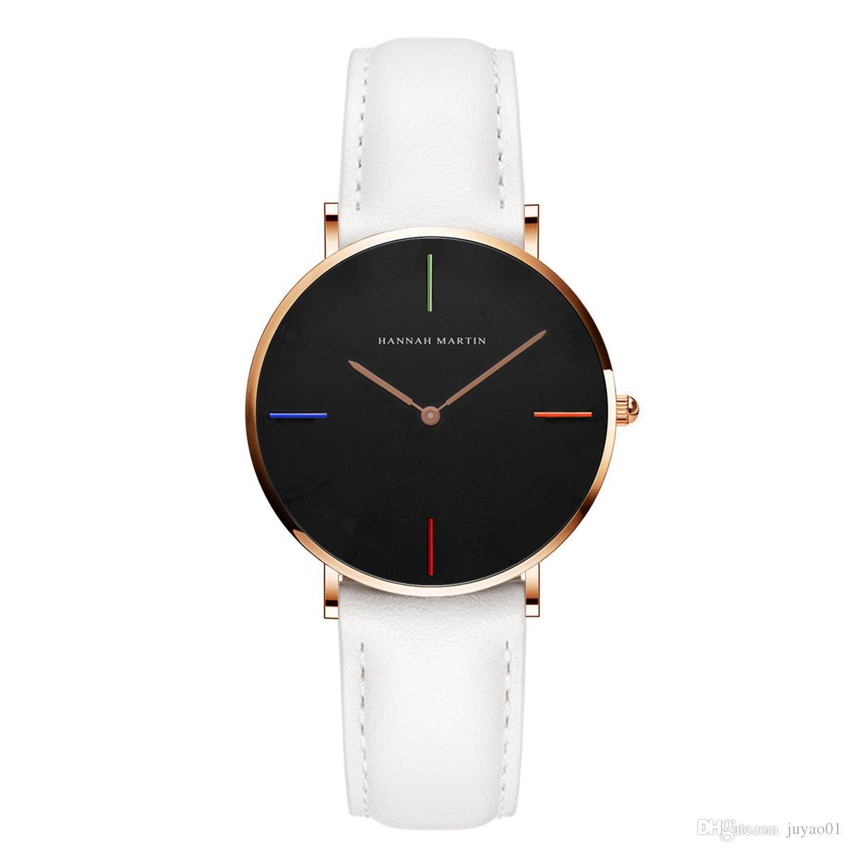 2018 Simple Style Student Ladies Waterproof Quartz Watch Auto Date Quartz Battery Women's Leather Belt Watches
