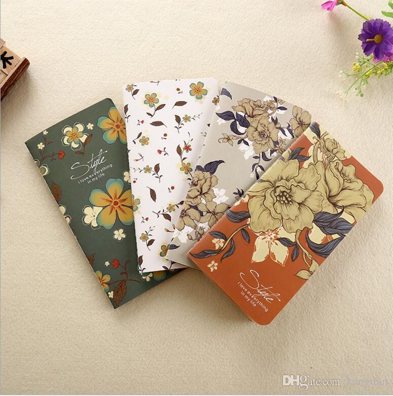 17x9 cm bonito da menina do vintage cadernos de papel kraft flor Floral material escolar papelaria estudante notepads portátil baby leiteria crianças presente