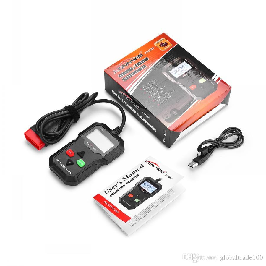 OBD2 Car Diagnostic Scanner Code Reader KONNWEI KW590 OBD 2 Autoscanner  Multi Language OBDII Scanner Automotive Better Than AD310 Diagnosis Machine