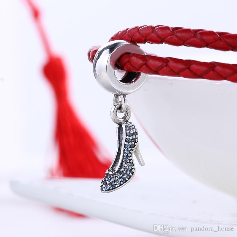 2018 Nouveau 100% Réel 925 Sterling Silver Bande Dessinée Dis ny Pave CZ Charmes Européens Charmes Perles Fit Pandora Bracelet DIY Bijoux Cadeau