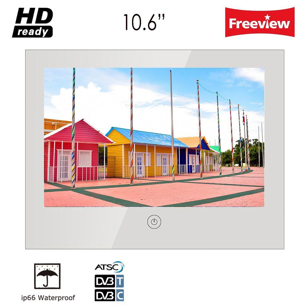 "Soulaca 10.6 ""인치 IP66 매직 미러 욕실 방수 TV 샤워 호텔 인테리어 디자인 Frameless 미니 스크린 TV"