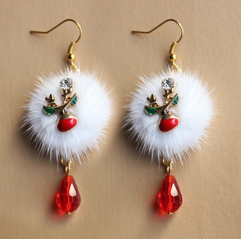 Kadınlar Için Noel Baba Kardan Adam Güzel Ağacı Noel Takı Noel Küpe Kadın Hediyeler Yeni Moda Toptan