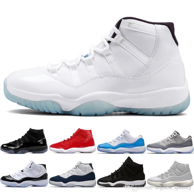 11 11s CAP E Vestido Prom Noite Homens Sapatos De Basquete Platinum Tint Ginásio Criado Prm Haress Barões Concord 45 Páscoa Cinza Mens Sport Sneakers # 1