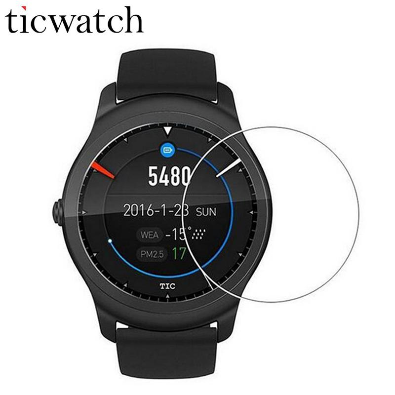 Original Ticwatch شاشة واقية من الزجاج المقسى فيلم ساعة Smartwatch HD فيلم واقية ل TICWATCH 2 Ticwatch E S