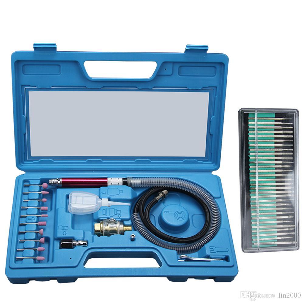 """1/8 """"Pneumatique Micro Air Crayon Die Grinder Polishing Engraver Tool Kit"""