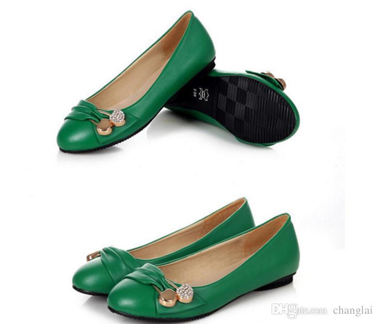 Livraison gratuite Hot 2016 printemps nouveau style femme chaussures peu profondes bouche fond plat unique chaussures