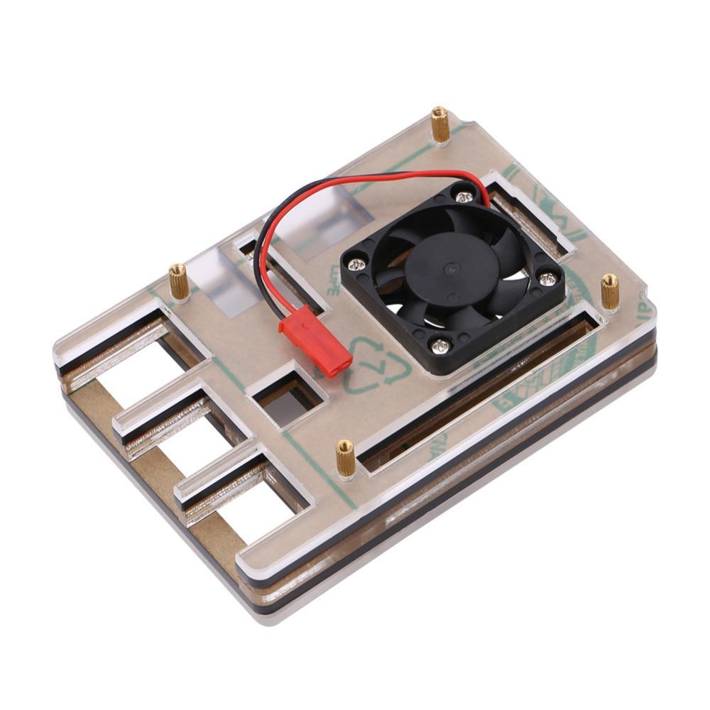 Freeshipping 6-слойный акриловый футляр для охлаждения охлаждающего вентилятора для малины pi 3 модель B