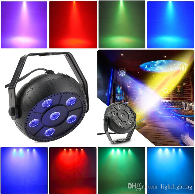 Mini 13W Dj Laser Disco Ball Stage Light 6 Led Rgb Wash Effect Portable Stage Par Light Auto Sound Activation Indoor Disco Lamp
