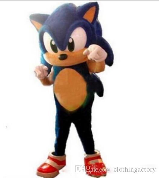 2018 de haute qualité costume de mascotte Sonic le hérisson taille adulte Blue Knuckles