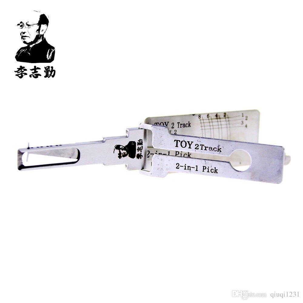 venda quente melhor lishi lock pick auto ferramentas 2em1 pick lishi TOY 2 pista lockpick e decodificador para Avalon Xl (2005 Avante)