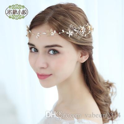 Европейский новые листья свадебные волосы свадебный головной убор/простой ручной работы свадебные украшения боковой клип hairband/больше стиля в магазин выбрать