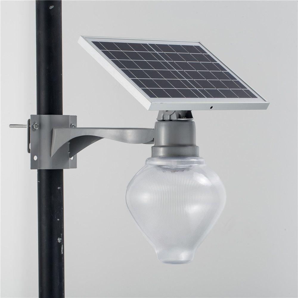 أضواء الشارع الشمسية LED 15W 90-95LM / W الألومنيوم حديقة مسار مصابيح في الهواء الطلق للماء الأمن الإضاءة القابلة لإعادة الشحن بطارية شنتشن الصين