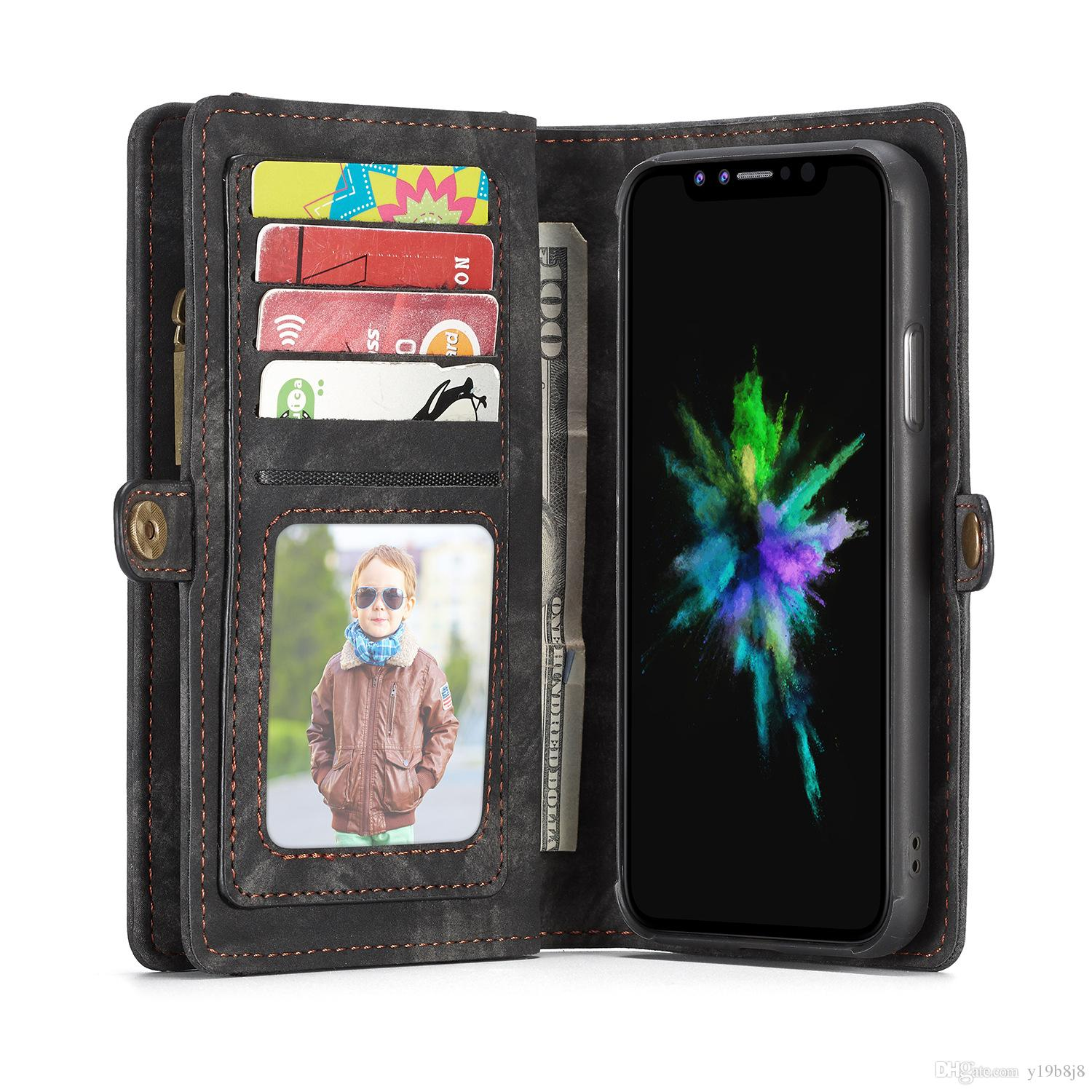 For Samsung S9 S9 Plus S7 S7 edge S8 S8 Plus Note 8 Cover Wallet Phone Bag 2 in 1 Leather Cell Phone Case 008