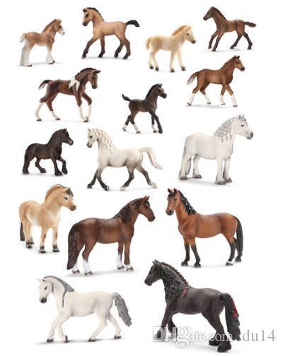 Original genuine Horse Fjord Arabian Icelandic Tennessee Hanoverian figure animal model kids toy collectible figurines
