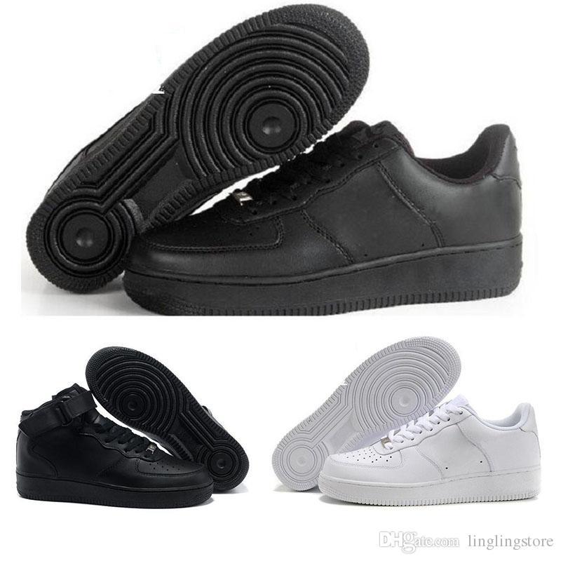 Nike Air Force 1 2018 Haute Qualité Mode Forcing CORK Hommes Femmes Un 1 Chaussures de Course haute Faible Cut Tout Blanc Noir Brun Couleur Casual Sneakers Taille 36-46
