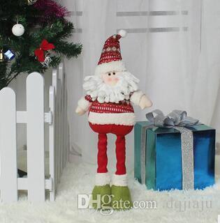 2018 Noel Süsler Teleskopik Yaşlı Adam Bebek Yılbaşı Hediyeleri Noel Malzemeleri Kukla Kardan Adam / Geyik