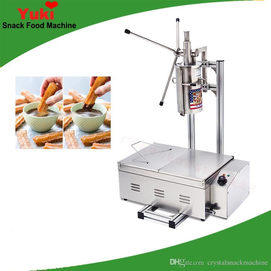 NP-8 Upgrade espagnol churros machine avec friteuse commercial churros maker populaire espagnol snack équipement churro faisant machine café