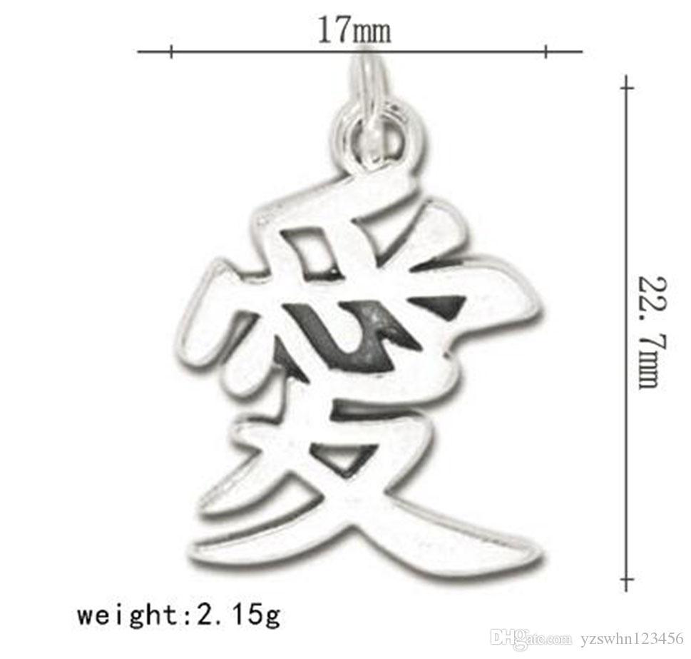 Diseño especial carácter chino amor encanto