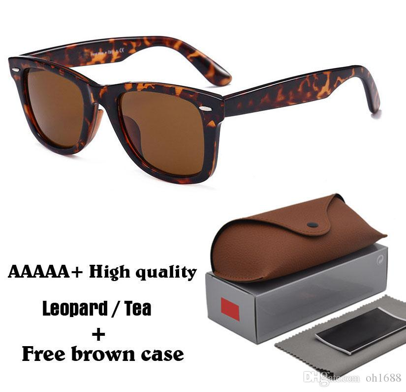Top Quality Brand Designer Men Women Sunglasses Metal Hinge 100% Glass Lens Plank Frame Vintage Unisex eyeglasses With Case and box