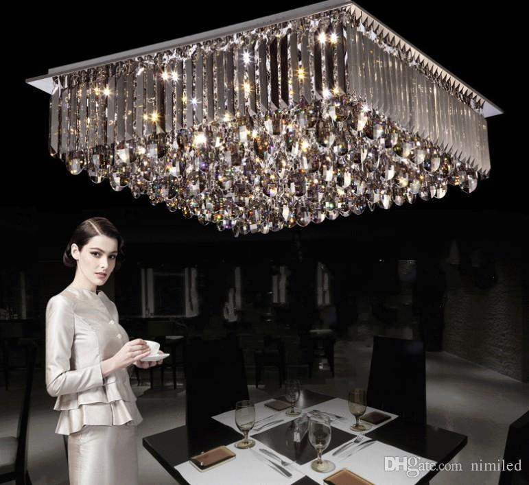 Nuovo design ! Moderno brillante generoso LED segmentato dimmerabile Lampadari Plafoniera Plafoniere di cristallo coperta Illuminazione LLFA