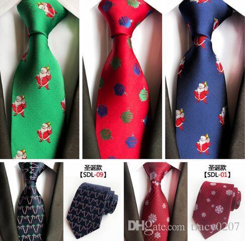 1PCS 망 크리스마스 실크 넥타이 동물 동물 Prinetd 넥타이 자카드 직물 눈사람 눈 패턴 8cm 넥 넥타이