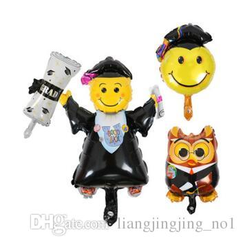 47x20cm New Graduation Season Party Cartoon Doctor Head Balloon Owl Paper Roll Aluminum Foil Balloon Wedding Decoration CCA9258 300pcs