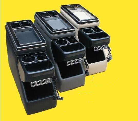 Boîte de console de voiture multifonctionnelle de haute qualité, boîte de rangement d'accoudoirs avec USB, lumière LED pour Mazda 8, Biante, Toyota Noah, Voxy70,80, NV200